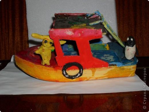 кораблик из пакетика из-под сока  Ваня 12 лет фото 5