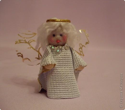 Шитьё: Ангелочек ( куколка на спичке) фото 1