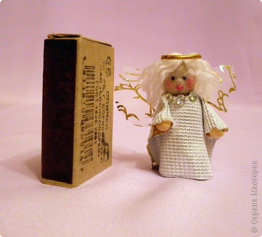 Шитьё: Ангелочек ( куколка на спичке) фото 2