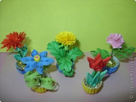 Квиллинг: Цветы фото 1