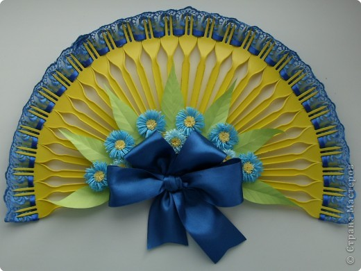 Квиллинг: Декоративный веер фото 1