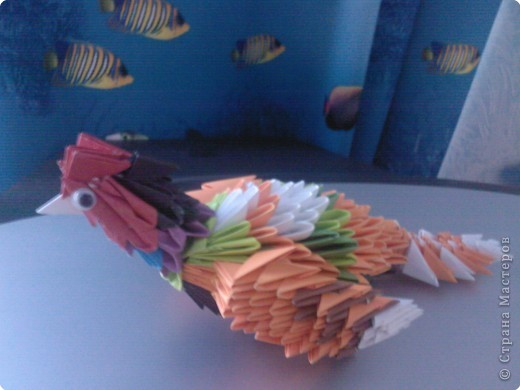 Оригами модульное: Просто птичка  фото 1