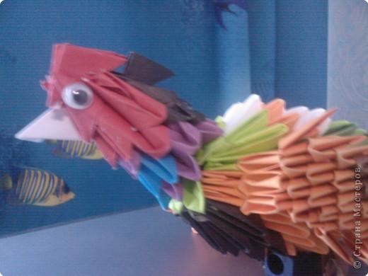 Оригами модульное: Просто птичка  фото 2