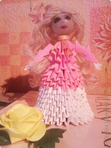 Оригами модульное: Девушка - весна фото 1