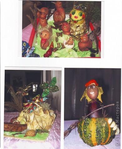 """к празднику урожая делалась выставка """"Поделки из овощей и фруктов"""", в детском саду. фото 2"""
