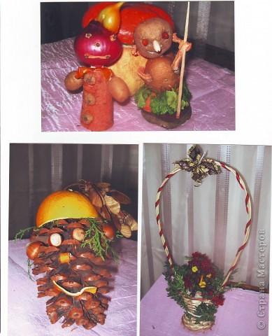 """к празднику урожая делалась выставка """"Поделки из овощей и фруктов"""", в детском саду. фото 4"""