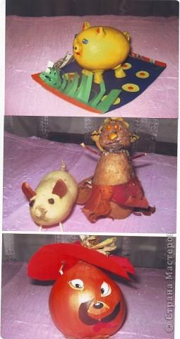 """к празднику урожая делалась выставка """"Поделки из вощей и фруктов"""", в детском саду. фото 3"""