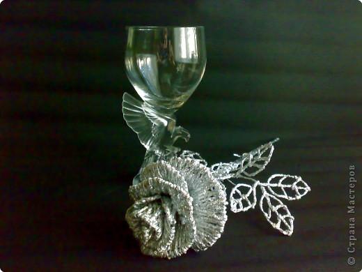 Плетение: Серебрянная роза фото 1