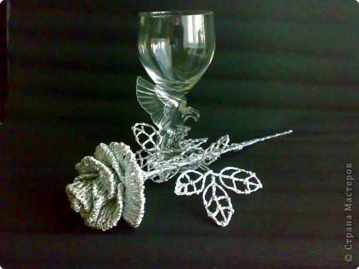 Плетение: Серебрянная роза фото 2
