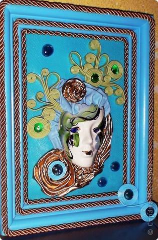 кожа, маска покупная, декоративный шнур.акрил фото 3