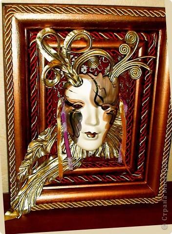 кожа, маска покупная, декоративный шнур.акрил фото 1