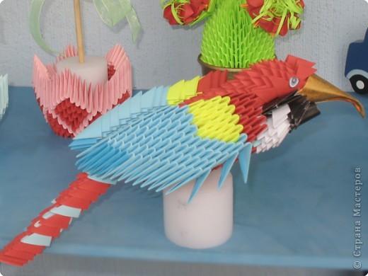 Оригами попугай для детей