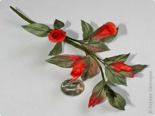 Украшение Шелковые цветы в японской технике цветоделия Ткань фото 2