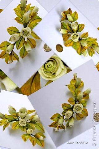 Украшение Шелковые цветы в японской технике цветоделия Ткань фото 3