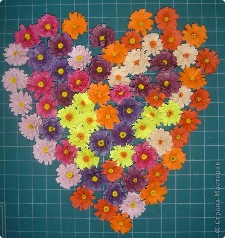 Квиллинг: Сердечные цветы, цветочное сердце, цветы от сердца или цветочно-сердечные метаморфозы ;-) фото 1