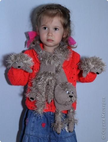 Вязание Комплект для дочки Нитки