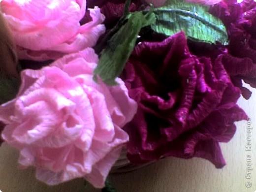 Бумагопластика: корзинка роз фото 3