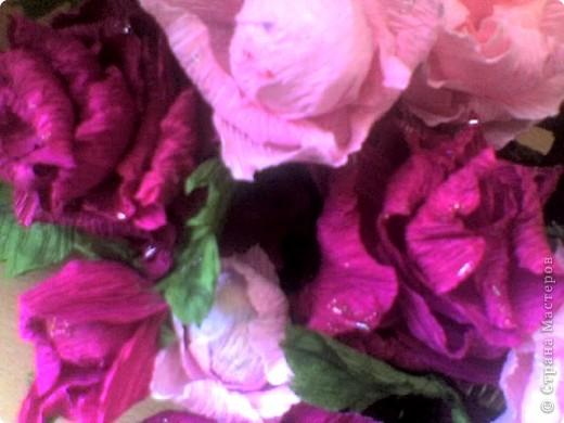 Бумагопластика: корзинка роз фото 5