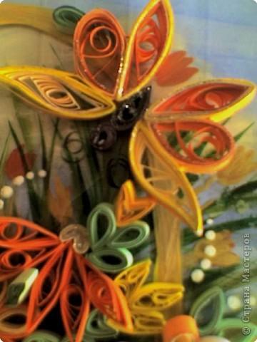 Квиллинг: Корзинка с цветами фото 4