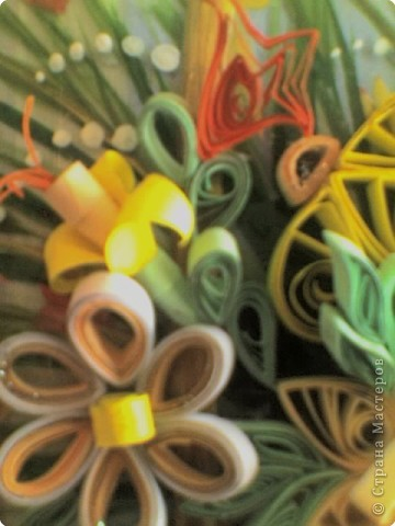 Квиллинг: Корзинка с цветами фото 5