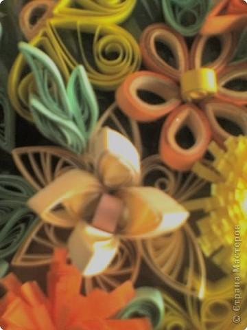 Квиллинг: Корзинка с цветами фото 6