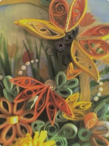 Квиллинг: Корзинка с цветами фото 7