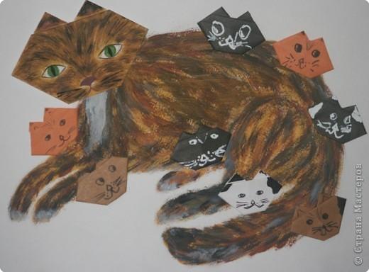 Оригами: Кошачья семейка фото 1