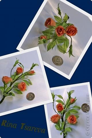 Украшение Шелковые цветы в японской технике цветоделия Ткань фото 7