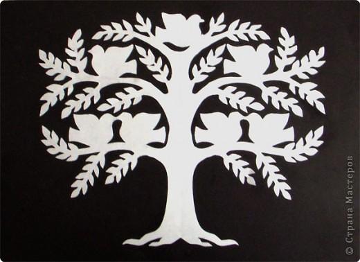 Вырезание симметричное: Дерево счастья