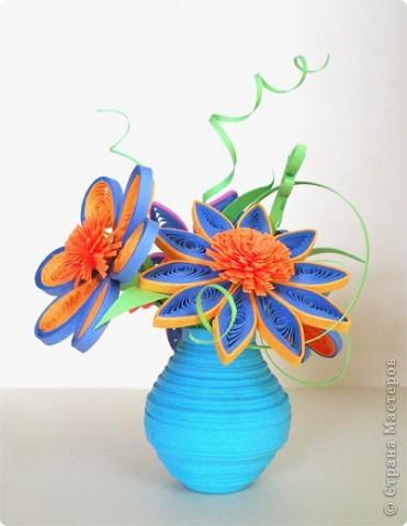 Квиллинг: Ваза с цветами фото 1