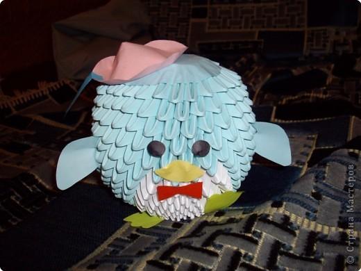 Оригами модульное: Пингвинчик