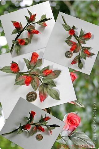 Украшение Шелковые цветы в японской технике цветоделия Ткань фото 5