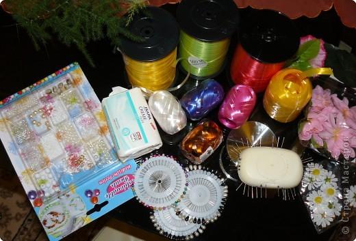 Вот всё то,что нужно для изготовления корзиночек из мыла фото 1