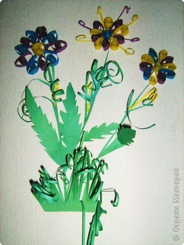 Цветы мальвы ( салфетки ). Делали Вероника, Настя  и Катя, 8лет фото 2
