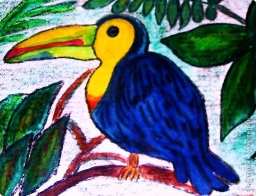 Рисовала в подарок для маленького ребенка, лет семь тому назад.... уж очень ему эта птица нравилась..