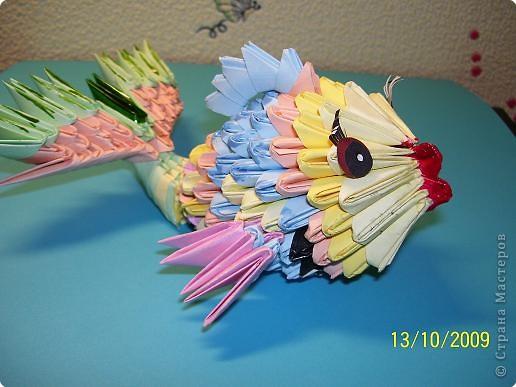 Оригами модульное: моя рыбка фото 2
