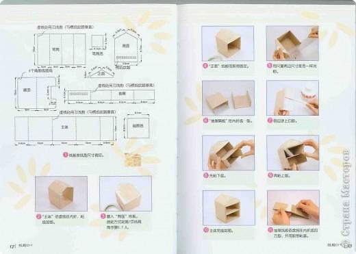 Домик. Потребуется картон гофрированный (коробка из магазина), скотч молярный (удобно склеивать картонные части между собой), оформительская бумага, скотч тонкий прозрачный (для закрепления оформительской бумаги) фото 2