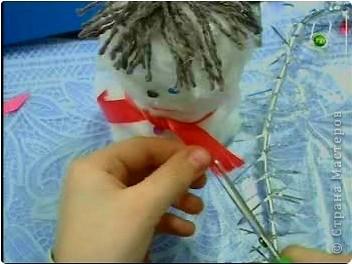 К прошлогодним Новогодним праздникам делали с ребятами игрушки - сувениры. фото 14