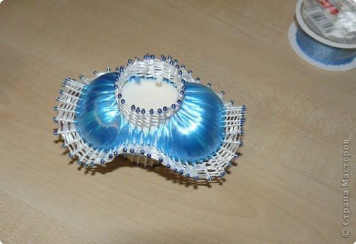 Плетение: МК..Мыльные корзиночки фото 13