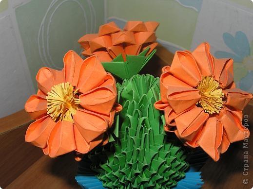 Оригами модульное: Кактус. фото 2