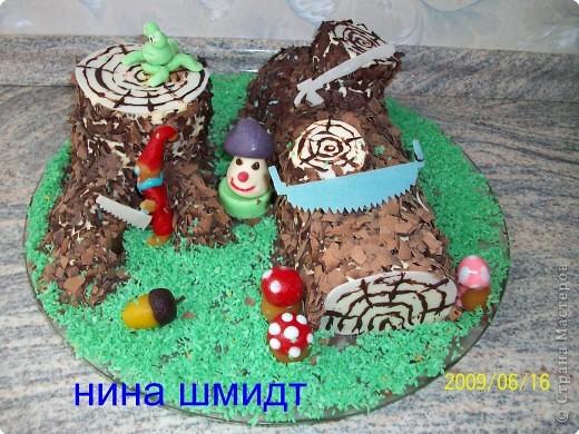 "торт ""Пенёк"" фото 2"