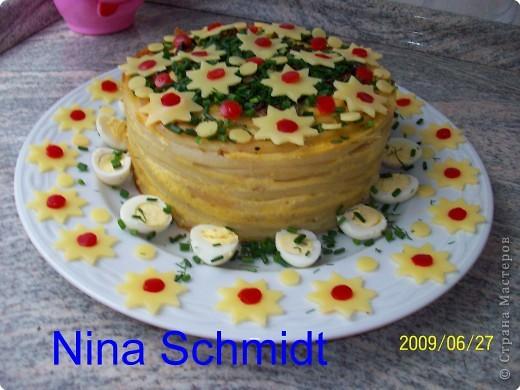 Макаронный торт фото 1