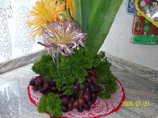Карвинг: Цветы из лука порея. фото 2
