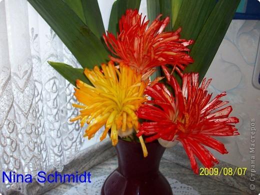 Карвинг: Цветы из лука порея. фото 1