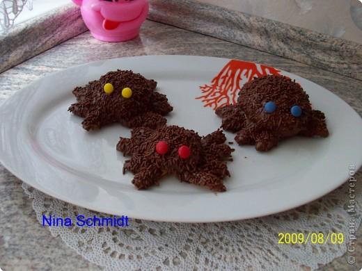 После оформления торта остались обрезки, подровняла полила распущенным шоколадом, поставила белым шоколадом точки. Получилось домино. фото 2