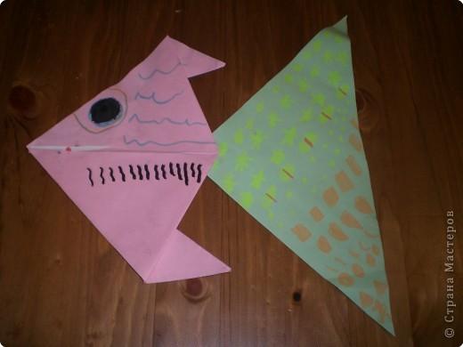 Оригами: Рыбка