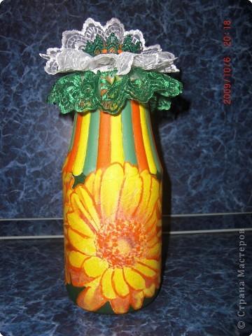 Декупаж: декор бутылки