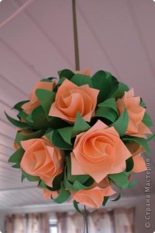 Моя первая кусудама из роз.Всего 18 роз. фото 1
