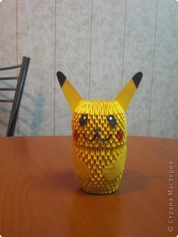 Оригами модульное: Пикачу фото 1