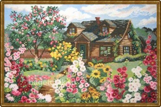 Вышивка крестом Цветущий сад